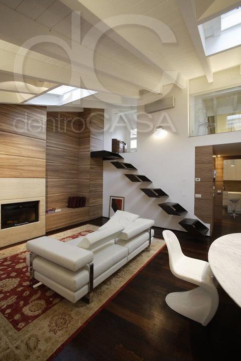 Architettura d 39 interni brescia mansarda elegante ristrutturazione - Idee architettura interni ...